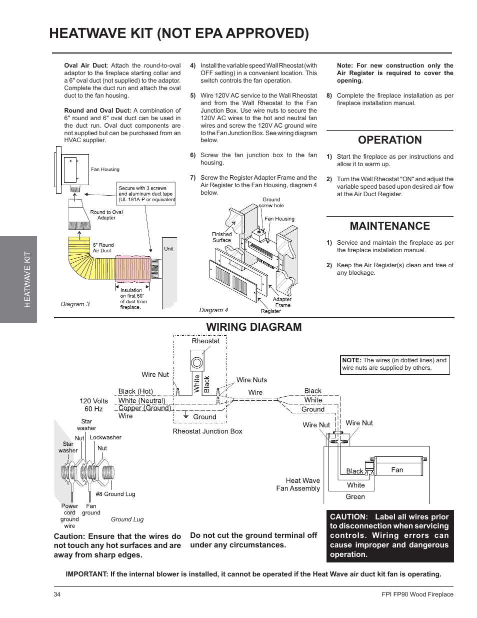 hight resolution of fireplace fan wiring diagram wiring diagramtrouble shooting1997 current wire diagram heatwave kit not epa approved