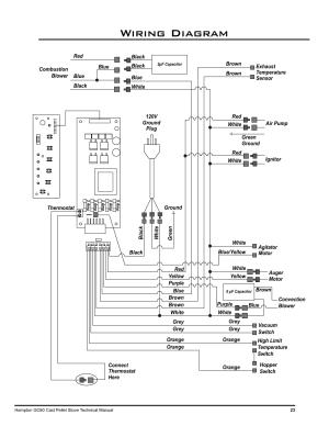 Wiring diagram | Regency Hampton GC60 Large Pellet Stove