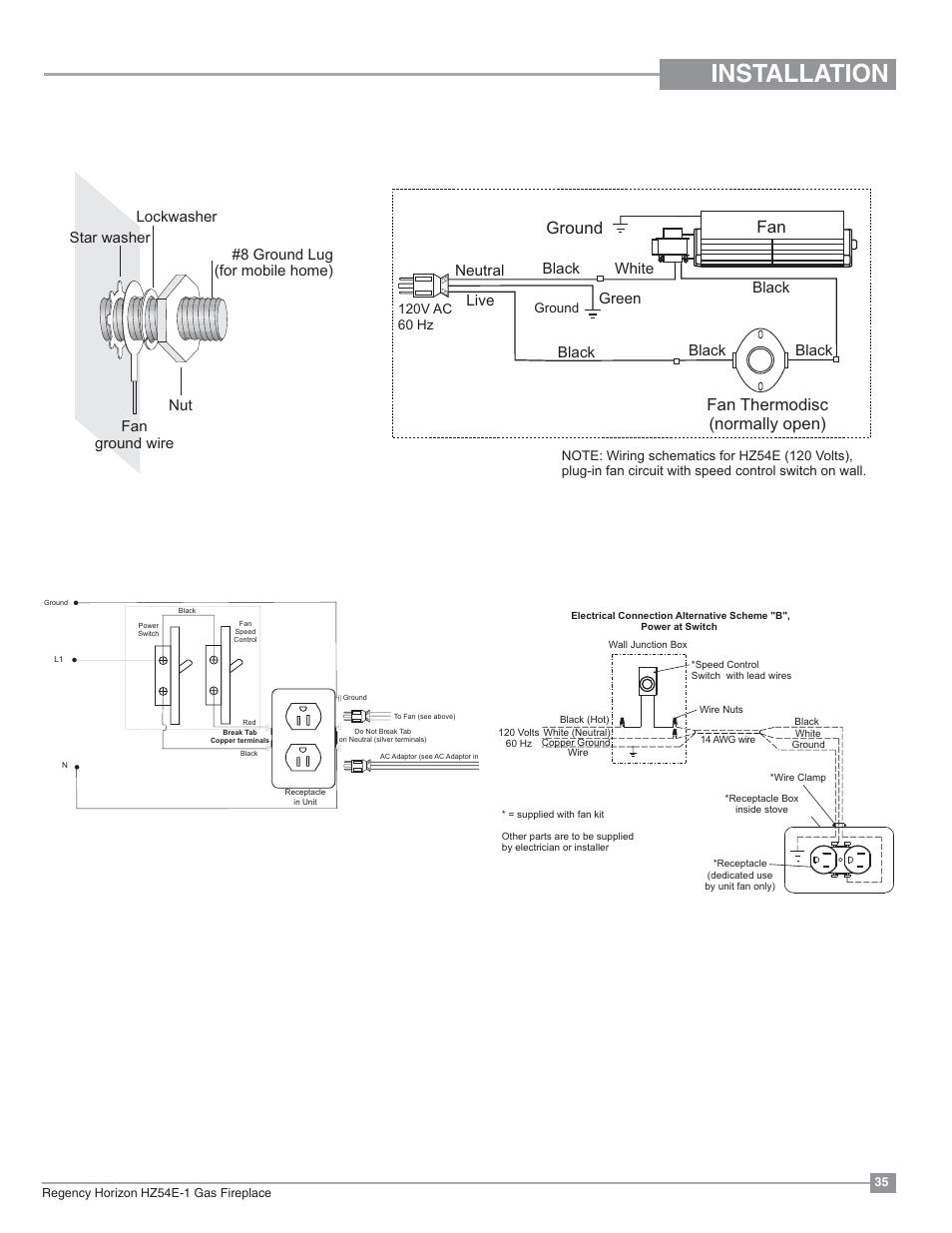 hight resolution of installation optional fan wiring diagram without proflame gtmfinstallation optional fan wiring diagram