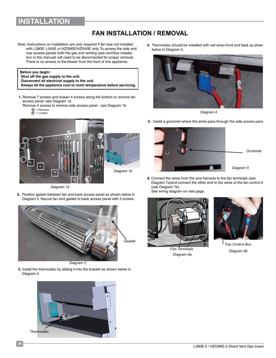 hight resolution of installation fan installation removal regency liberty l390eb medium gas insert user manual page 20 60