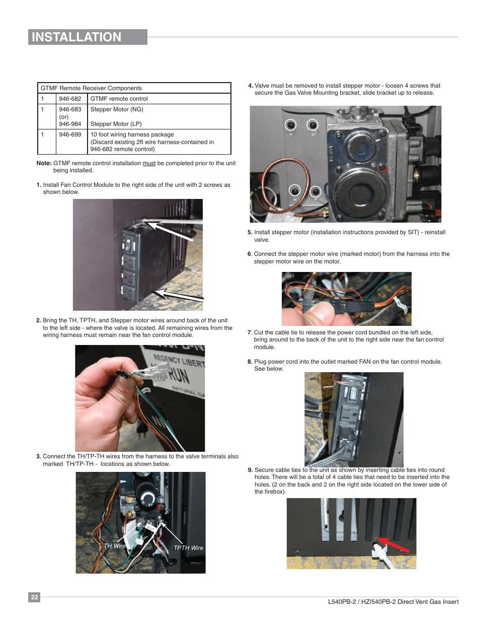 hight resolution of installation gtmf remote control installation regency horizon hzi540pb large gas insert user manual page 22 56
