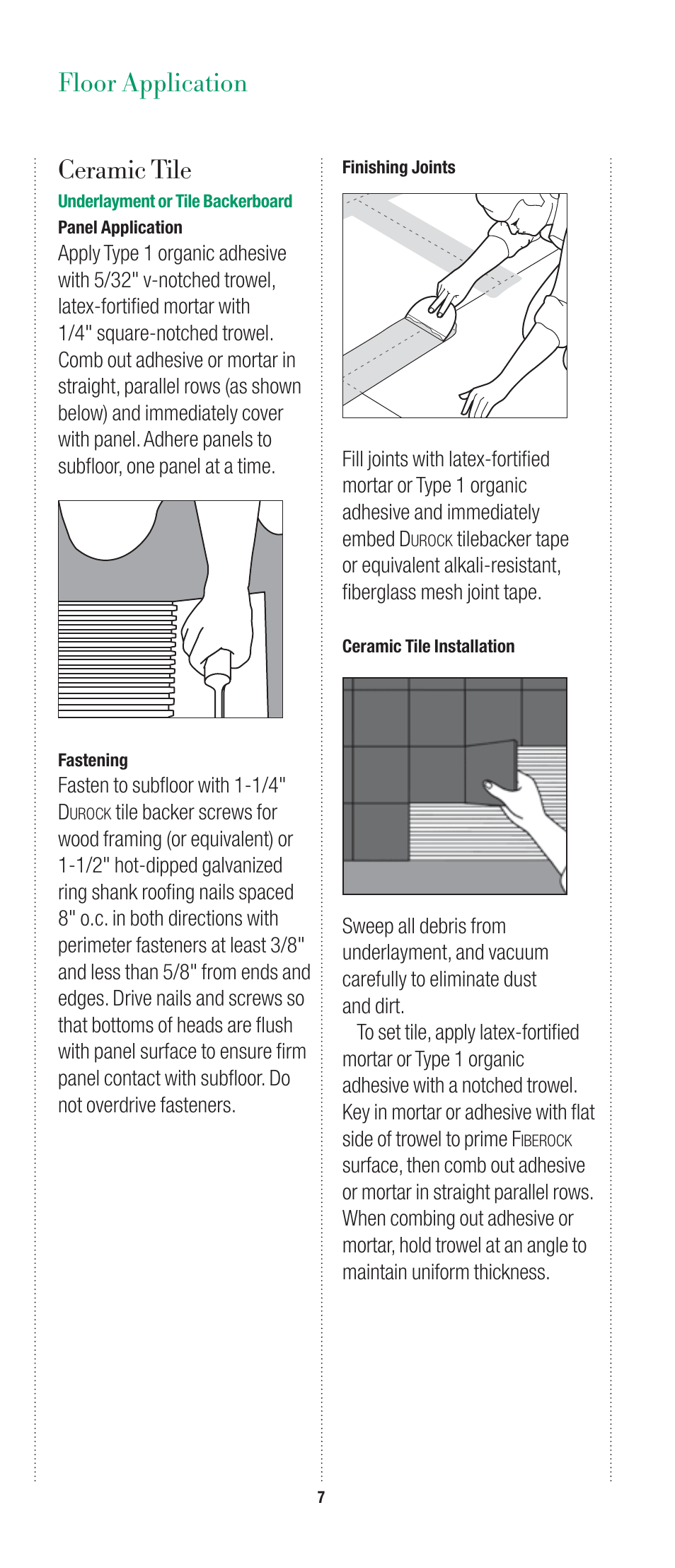usg fiberock underlayment and tile