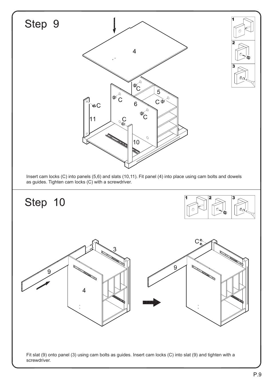 Walker Edison Furniture DW48D30 Storage Desk User Manual