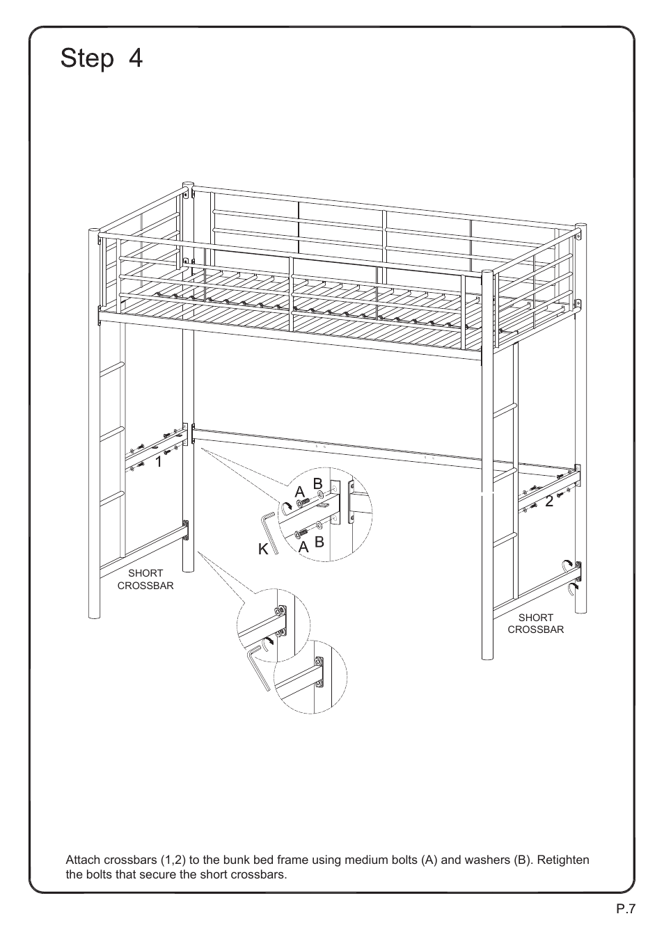Walker Edison Furniture BTOZ Sunrise Twin/Workstation
