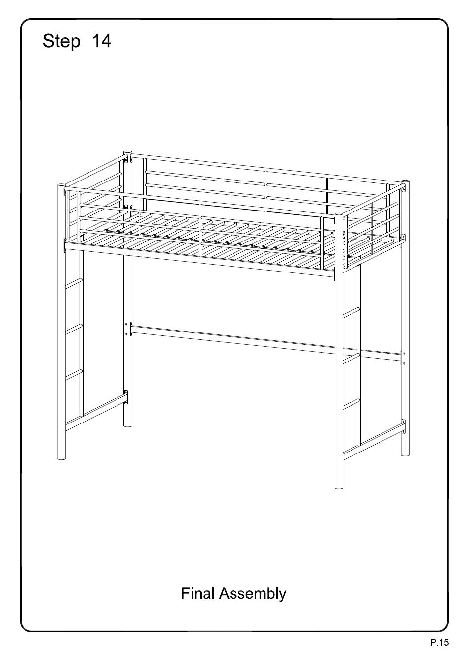 Walker Edison Furniture BTOL Sunrise Twin/Loft Metal Bunk