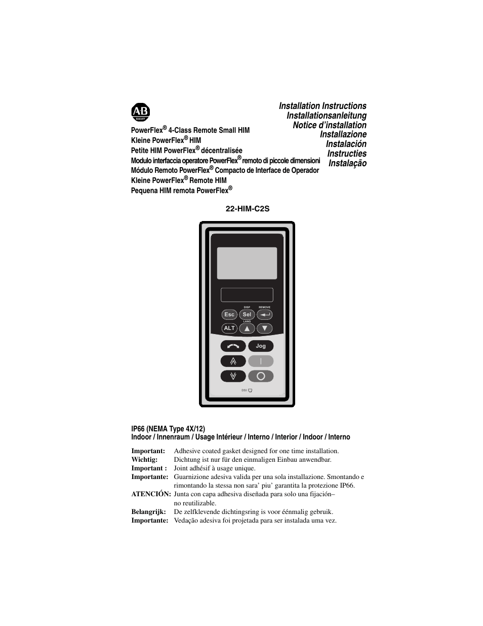 Rockwell Automation 22-HIM-C2S PowerFlex 4-Class Remote