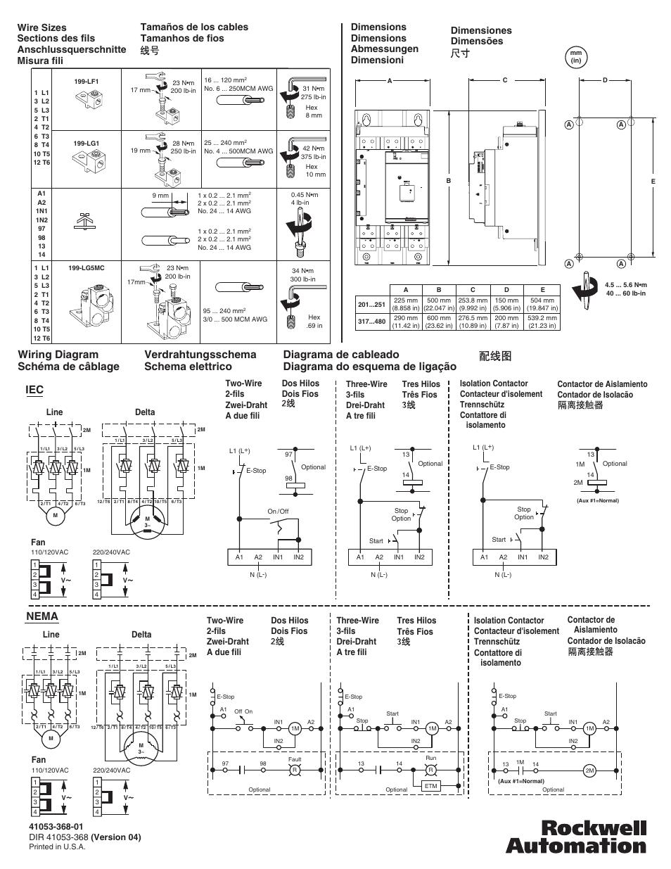 soft starter wiring diagram pontiac g6 radio schéma de câblage iec, nema, verdrahtungsschema schema elettrico | rockwell ...