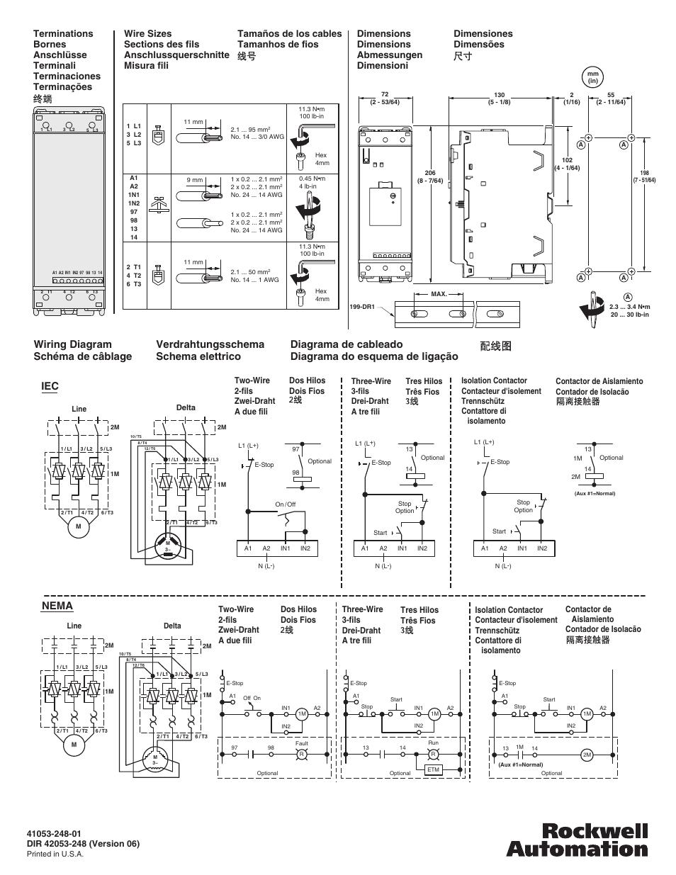 Set motor fla (15), Verdrahtungsschema schema elettrico