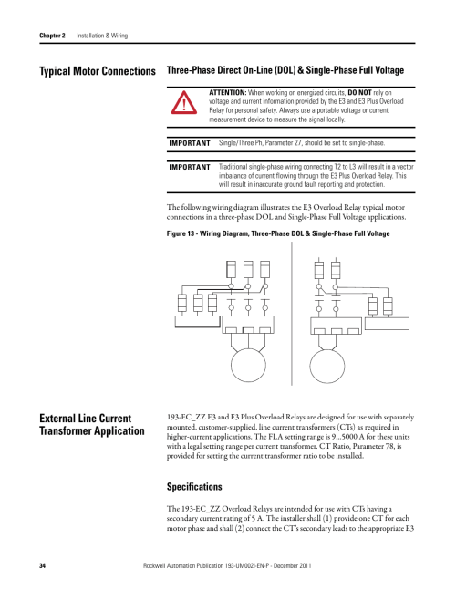 small resolution of  specifications rockwell automation 193 ec1 2 3 5 193 ecpm 592 ec1 2 3 5 e3 and e3 plus solid state overload relay user manual user manual page 34