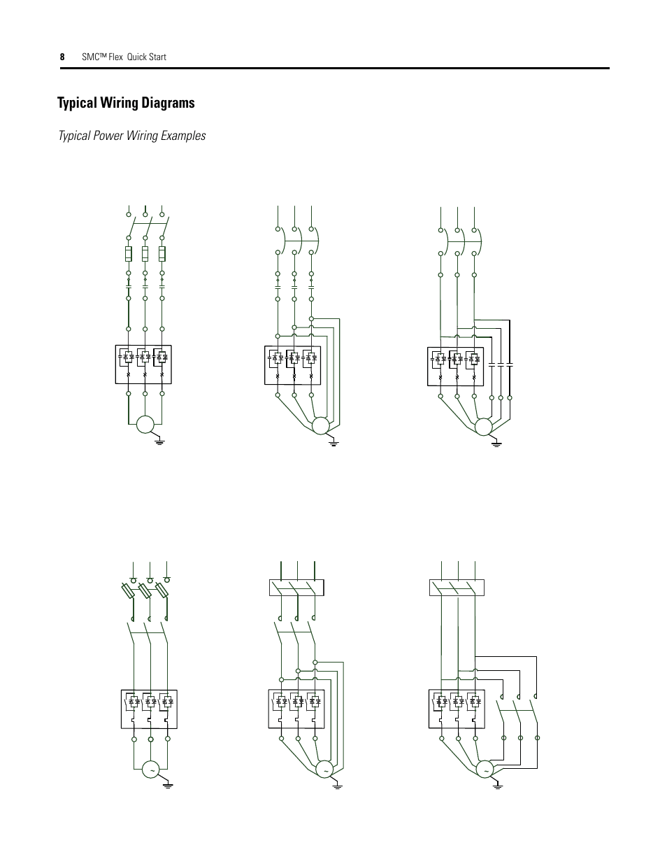 hight resolution of typical wiring diagrams typical power wiring examples 8smc flex quick start diagrams