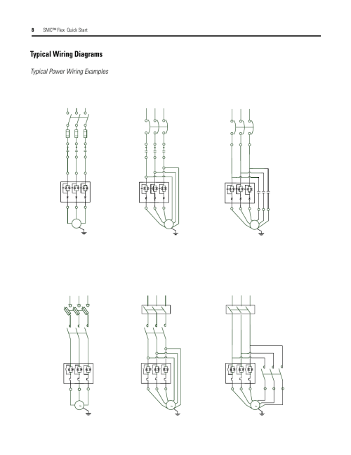 small resolution of typical wiring diagrams typical power wiring examples 8smc flex quick start diagrams