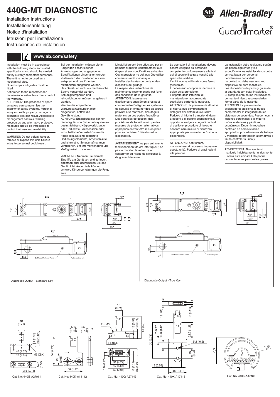 hight resolution of rockwell automation 440g mt diagnostic guard locking safety interlock switch user manual 4 pages