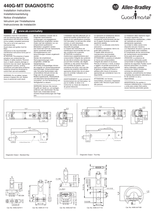 small resolution of rockwell automation 440g mt diagnostic guard locking safety interlock switch user manual 4 pages