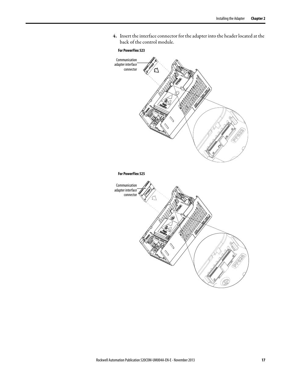 Rockwell Automation 25-COMM-P PowerFlex PROFIBUS DPV1