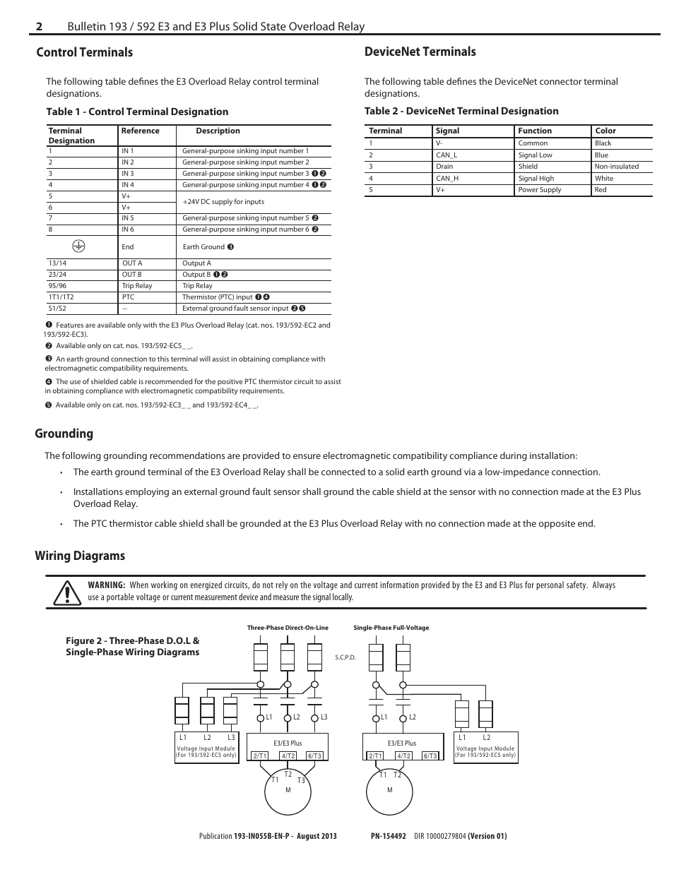 medium resolution of control terminals grounding devicenet terminals wiring diagrams table 1 control terminal