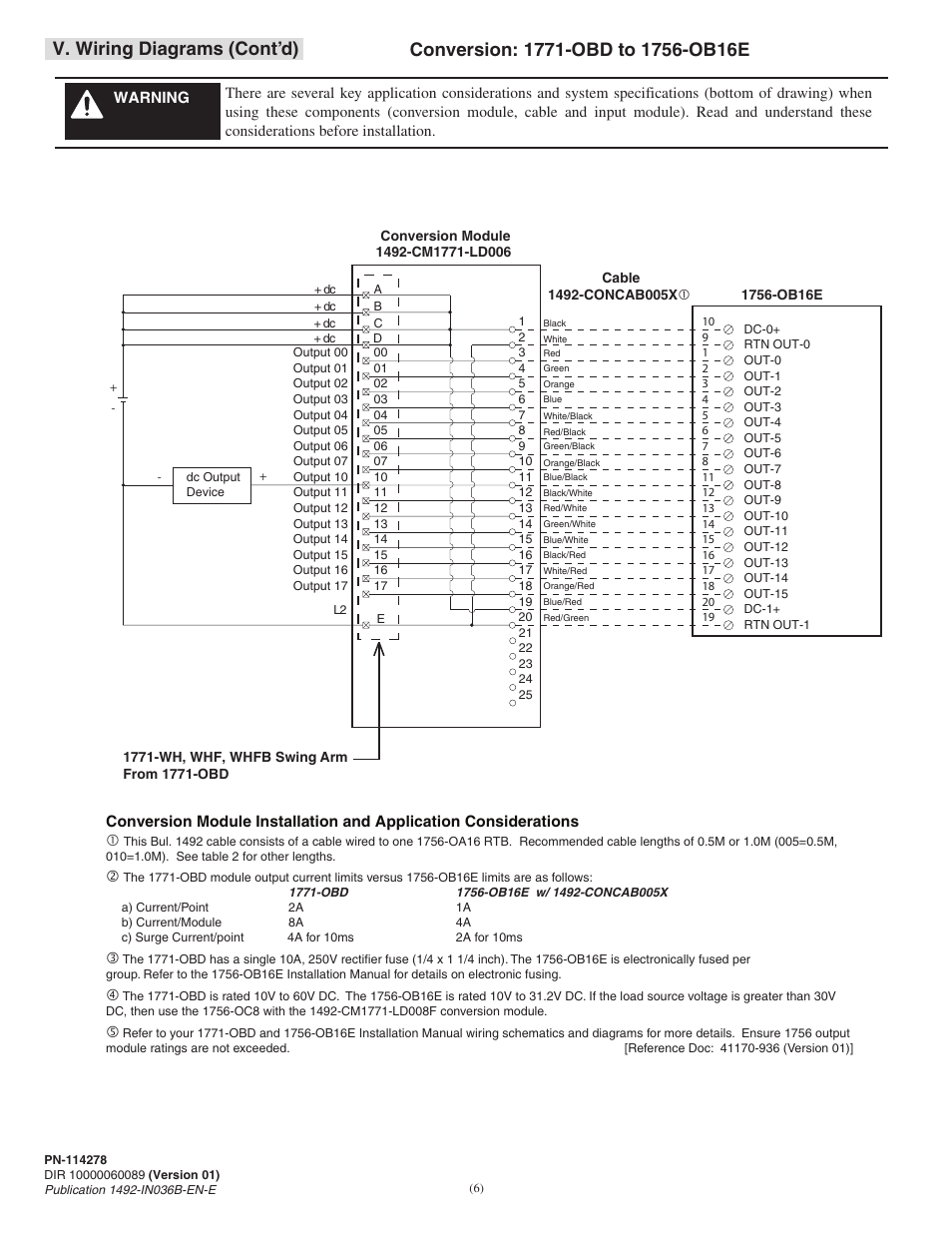 medium resolution of rockwell automation 1492 cm1771 ld006 field conversion module user manual page 6 12