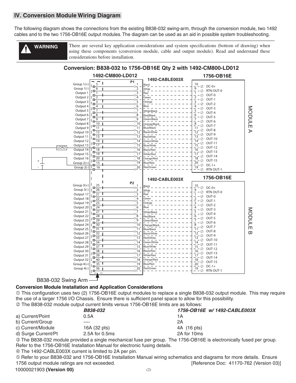 hight resolution of iv conversion module wiring diagram module a module b rockwell automation 1492
