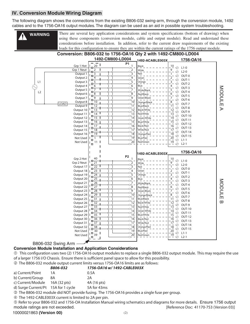 Iv Conversion Module Wiring Diagram Module A Module B Rockwell
