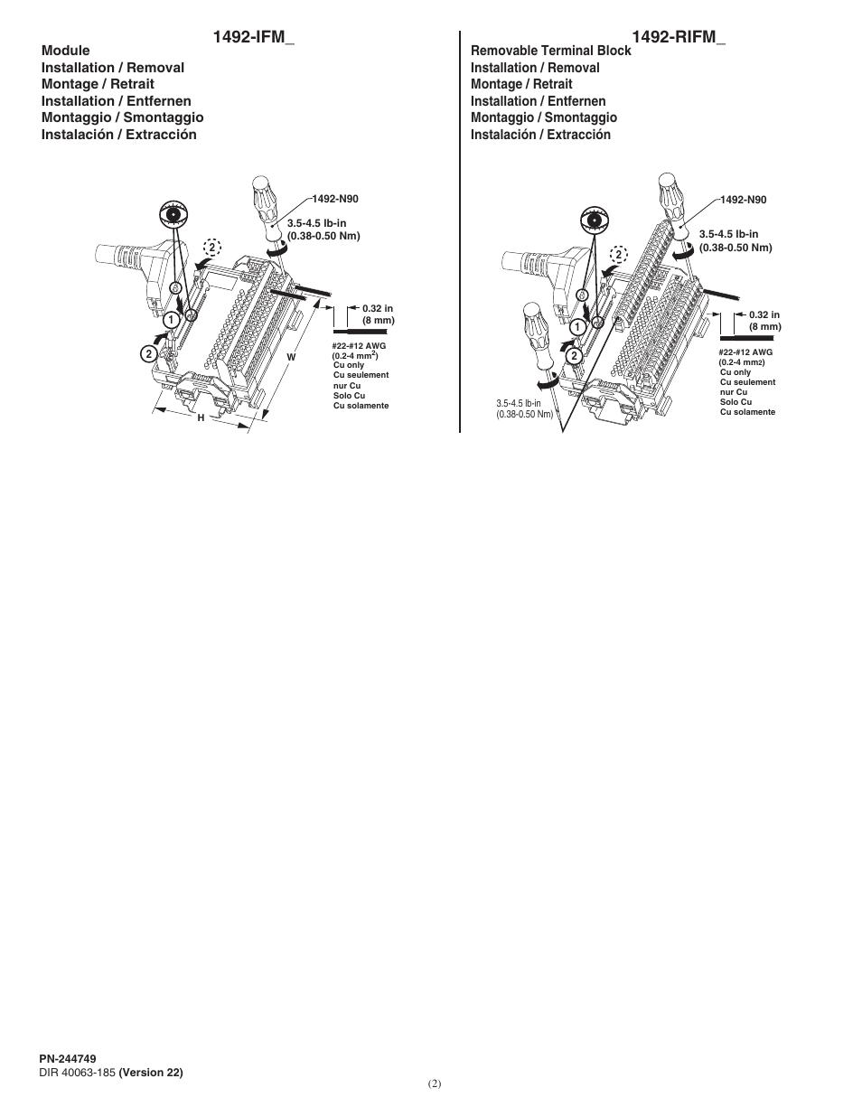 Rockwell Automation 1492-IFMxxxx Sensor Interface Modules
