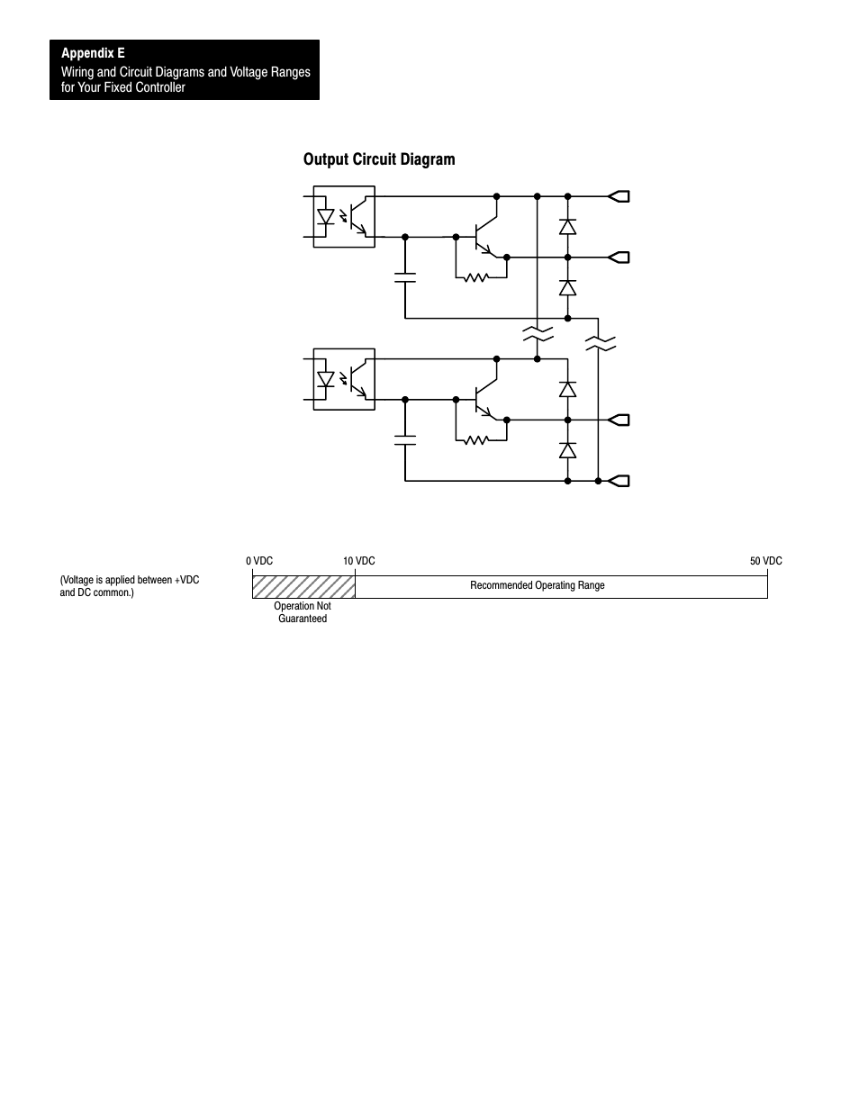 medium resolution of output circuit diagram e 16 operating voltage range rockwell slc 500 wiring diagram