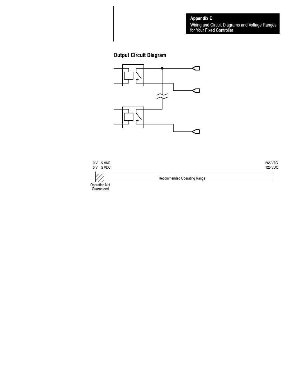 medium resolution of output circuit diagram e 39 operating voltage range rockwell automation 1747 l40 slc 500 fixed hardware style user manual page 182 223