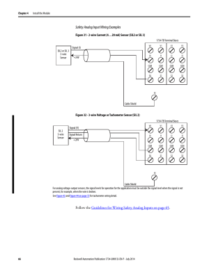 Safety analog input wiring examples | Rockwell Automation 1734IE4S POINT Guard IO Safety