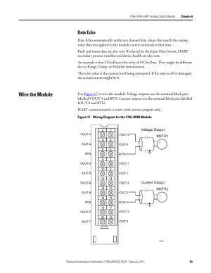 Wire the module, Data echo | Rockwell Automation 1756OF8H