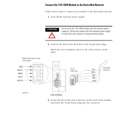 rockwell automation 1747 sdn slc 500 devicenet scanner module user manual user manual page [ 954 x 1235 Pixel ]