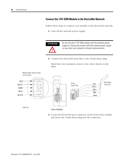 small resolution of rockwell automation 1747 sdn slc 500 devicenet scanner module user manual user manual page