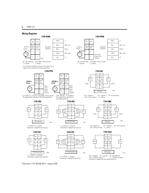 Wiring diagrams, 1734pdn, 1734fpd | Rockwell Automation 1734 Point IO Installation
