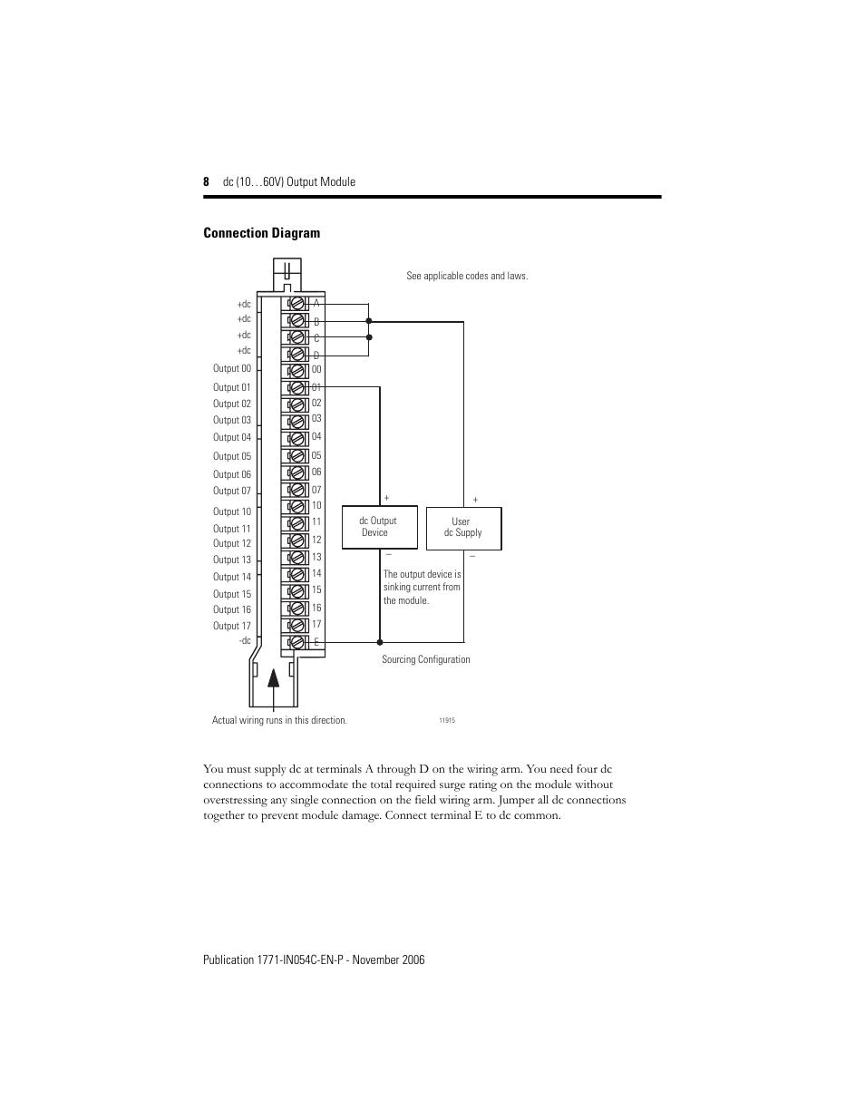 hight resolution of connection diagram rockwell automation 1771 obd series c instl instr dc 10 60v output user manual page 8 20