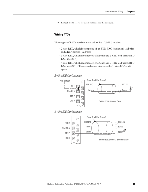small resolution of wiring rtds rockwell automation 1769 ir6 compact i o 1769 ir6 rtd resistance input module user manual page 41 120