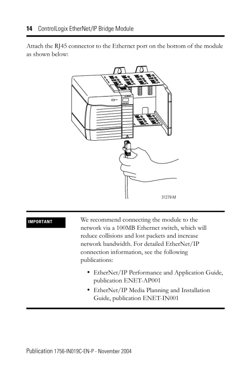 small resolution of rockwell automation 1756 enbt controllogix ethernet ip bridge module installation instructions user manual