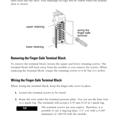 removing the finger safe terminal block wiring the finger safe terminal block rockwell automation 1769 iq16f compact 24v dc sink source input module user  [ 954 x 1475 Pixel ]
