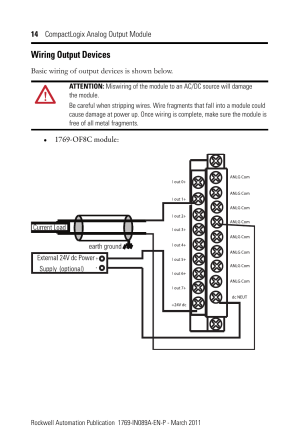 Wiring output devices | Rockwell Automation 1769OF8V