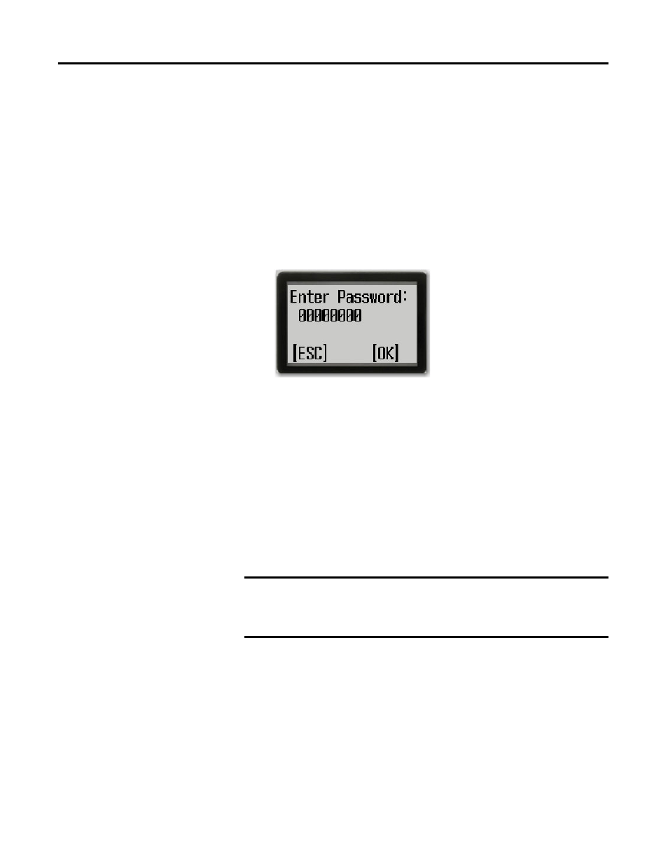 Activate password, Deactivate password, Activate password
