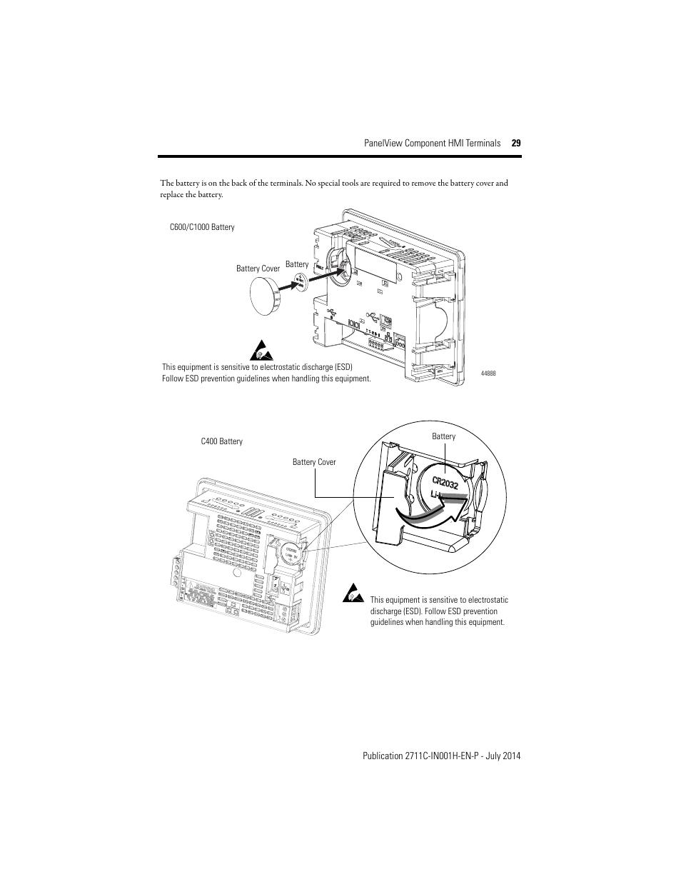 Rockwell Automation 2711C-xxxx PanelView Component HMI