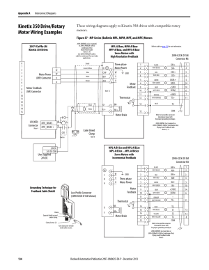 Kiix 350 driverotary motor wiring examples, For t, For i | Rockwell Automation 2097Vxxx