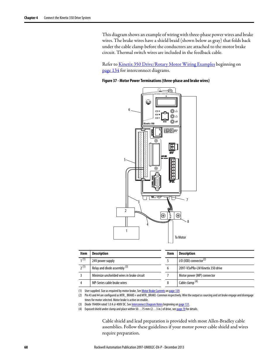 medium resolution of rockwell automation 2097 vxxx kinetix 350 single axis ethernet ip servo drive user manual user manual page 68 156