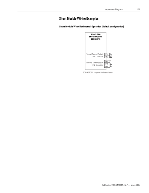 small resolution of shunt module wiring examples rockwell automation 2093 xxxx kinetix 2000 multi axis servo drive user manual user manual page 177 226