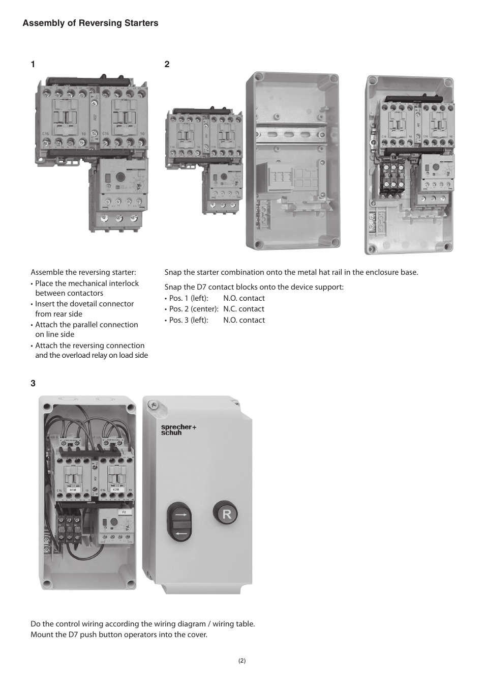 medium resolution of rockwell automation ks7 c0s4r sprecher schuh ks7 plastic encl for dol and reversing starter user manual page 2 4