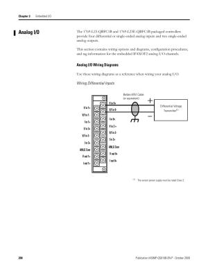 Analog io, Analog io wiring diagrams | Rockwell