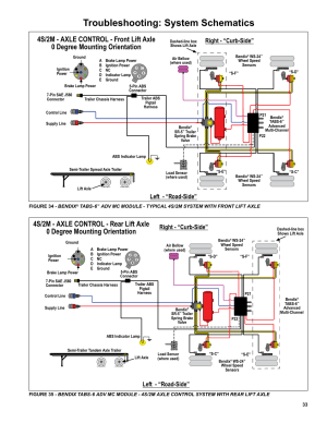 """Troubleshooting: system schematics, Right  """"curbside"""
