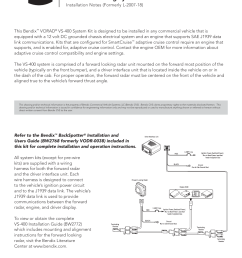 bendix commercial vehicle systems vorad vs 400 installation notes user manual 1 page [ 954 x 1235 Pixel ]