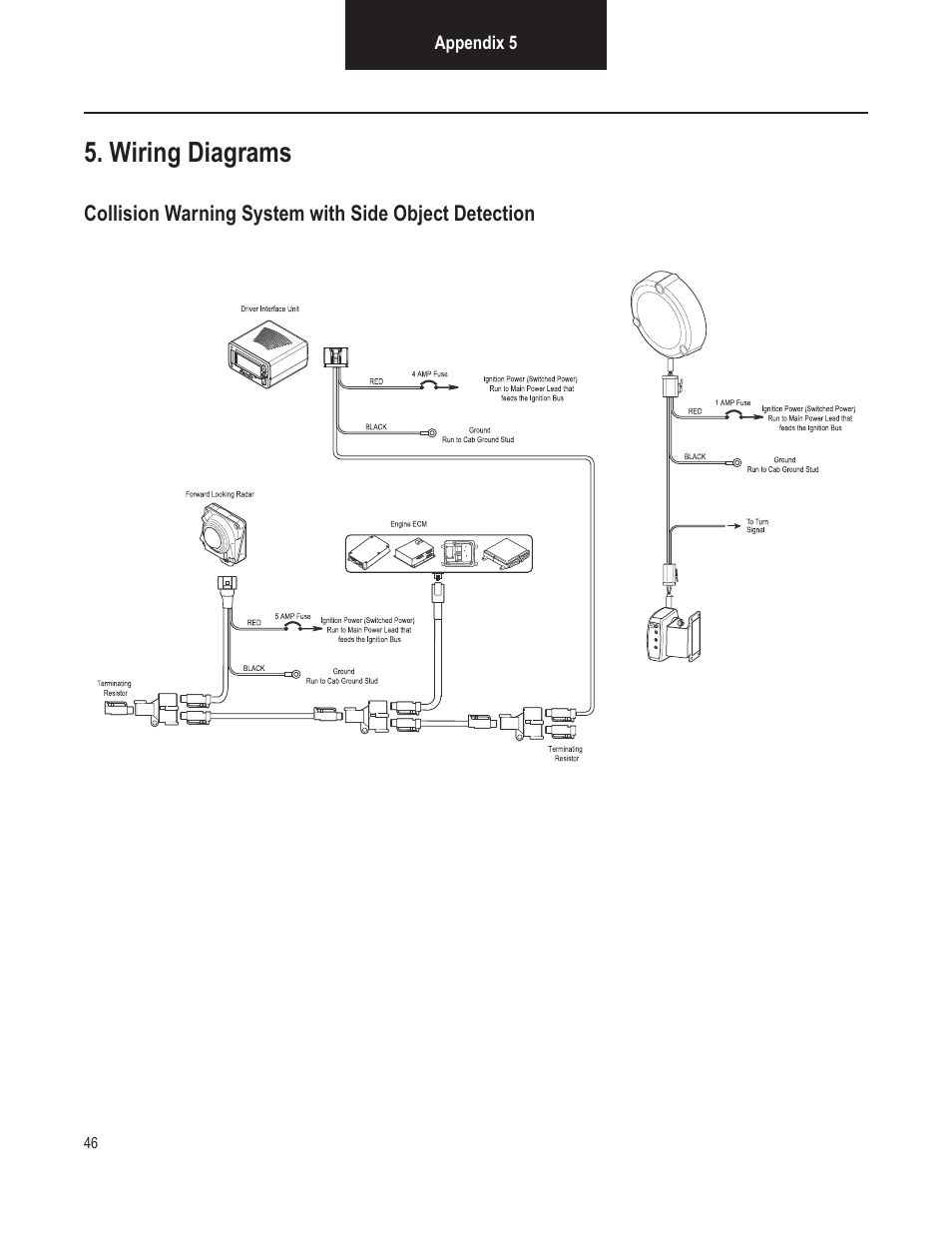 hight resolution of wiring diagrams bendix commercial vehicle systems vorad vs 400 installation notes user manual page 48 54