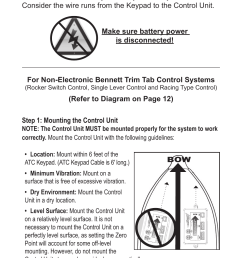 auto tab control atc installation instructions bennett marine auto tab control user manual page 8 16 [ 954 x 1475 Pixel ]