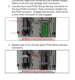 pcm unlock f connecting the pcm wiring harness bully dog 42213 dodge ram 2500 3500 6 7l 2013 user manual page 9 12 [ 954 x 1475 Pixel ]