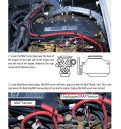 installation map sensor unplugged map sensor bully dog 40630 cat 3126 c7 and c9 engines user manual page 9 16 [ 954 x 1475 Pixel ]