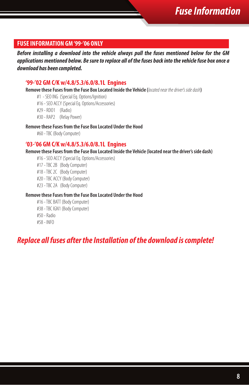 medium resolution of fuse information bully dog 40510 triple dog gas downloader user manual page 9 32