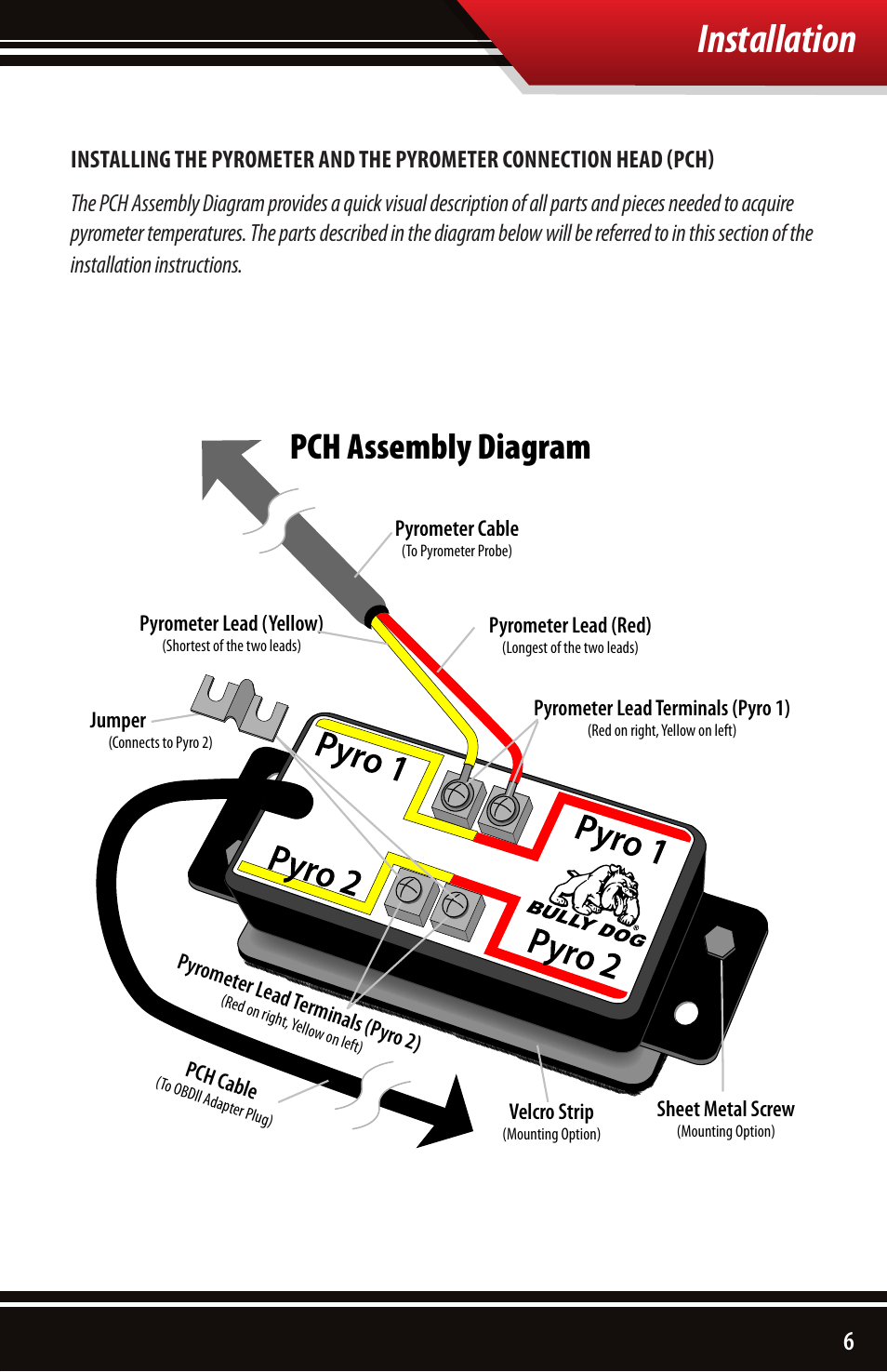 hight resolution of installation pch assembly diagram bully dog 40390 pch with rtd wiring diagram installation pch